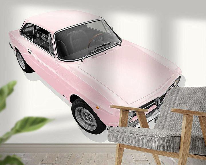 Sfeerimpressie behang: Alfa Romeo GT 1300 Junior in rosé van aRi F. Huber