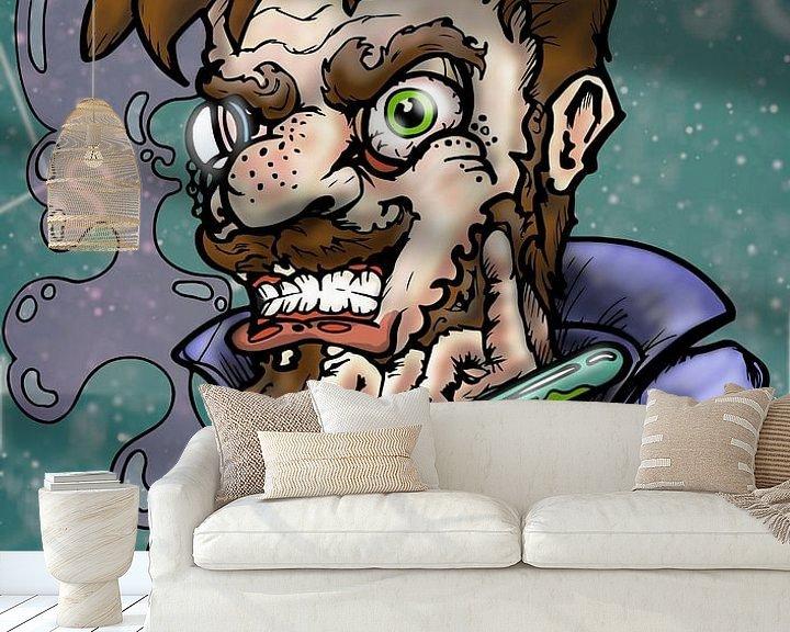 Sfeerimpressie behang: mad scientist van Jos Laarhuis