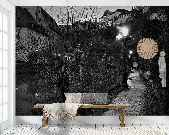 Sfeerimpressie behang: Wandeling langs de rivier van Hannelore