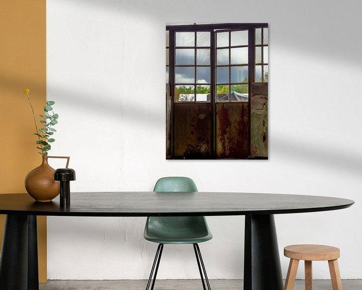 Sfeerimpressie: Deur met raam van Martijn Tilroe