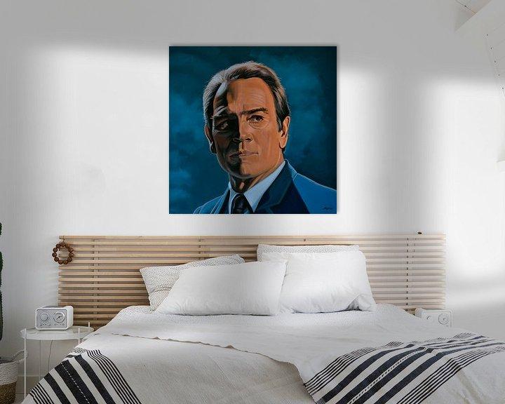 Beispiel: Tommy Lee Jones Gemälde von Paul Meijering