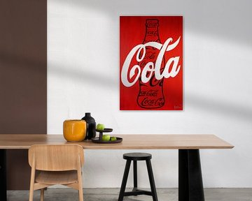 Coca Cola Schwarze Flasche von Kathleen Artist Fine Art