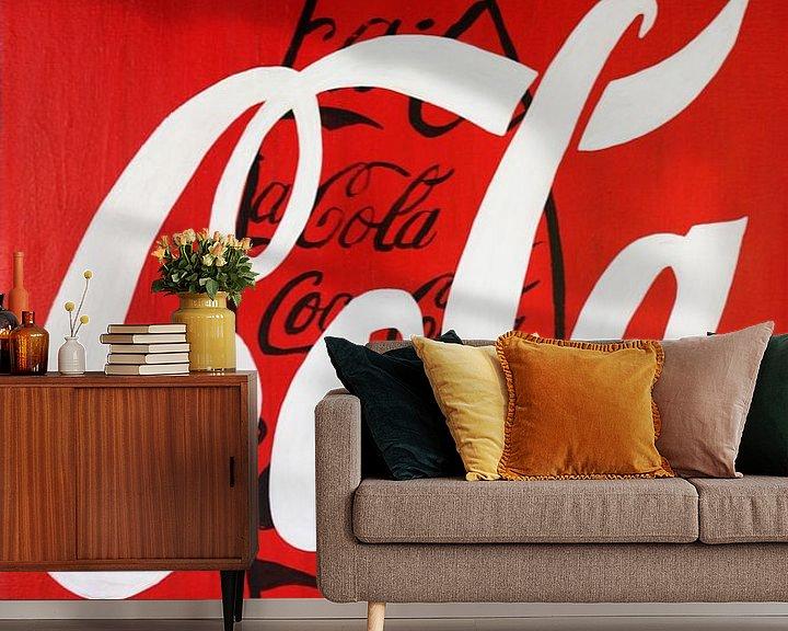Beispiel fototapete: Coca Cola Schwarze Flasche von Kathleen Artist Fine Art