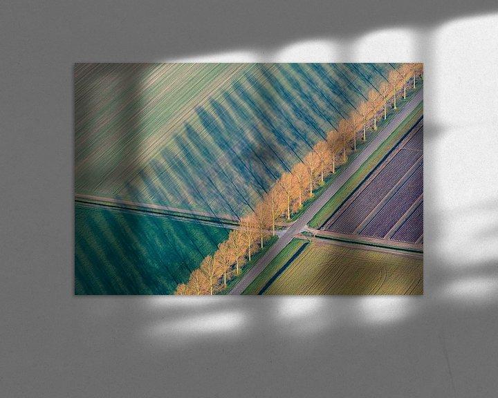 Sfeerimpressie: Luchtfoto van abstract landschap in Flevoland van Sjoerd van der Wal