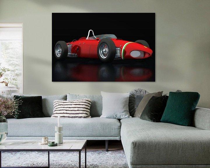Sfeerimpressie: Ferrari 156 Shark Nose driekwart zicht van Jan Keteleer