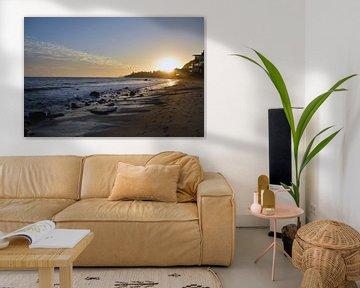 Coucher de soleil sur la plage de Malibu sur Sandra Knittel