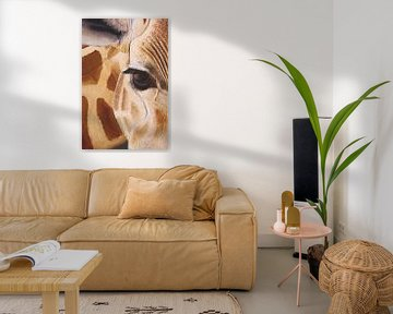 Giraf detail schilderij