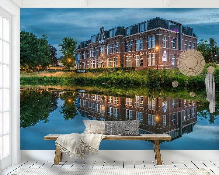 Sfeerimpressie behang: Flevogebouw Zwolle van Fotografie Ronald
