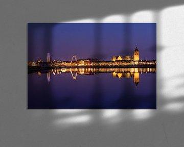 Kampen, le soir, devant la ville