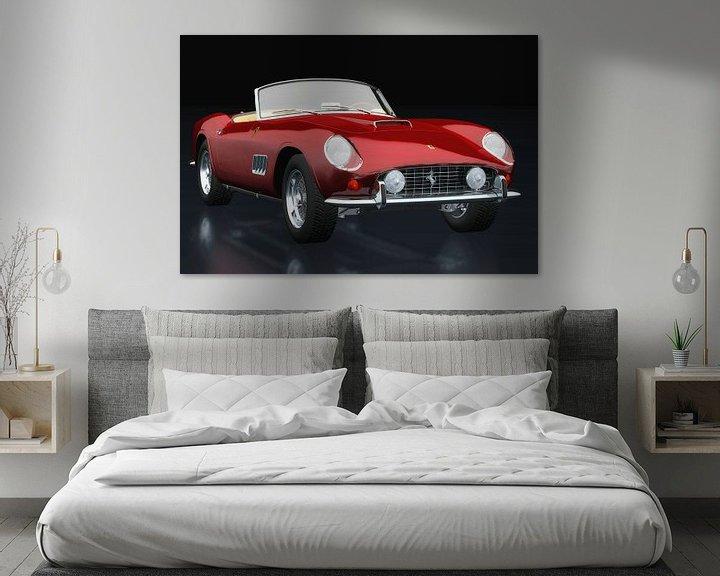 Impression: Ferrari 250 GT Spyder California 1960 vue trois quarts sur Jan Keteleer