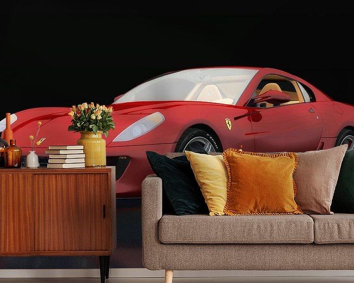 Sfeerimpressie behang: Ferrari 599 GTB Fiorano drie-kwart zicht van Jan Keteleer