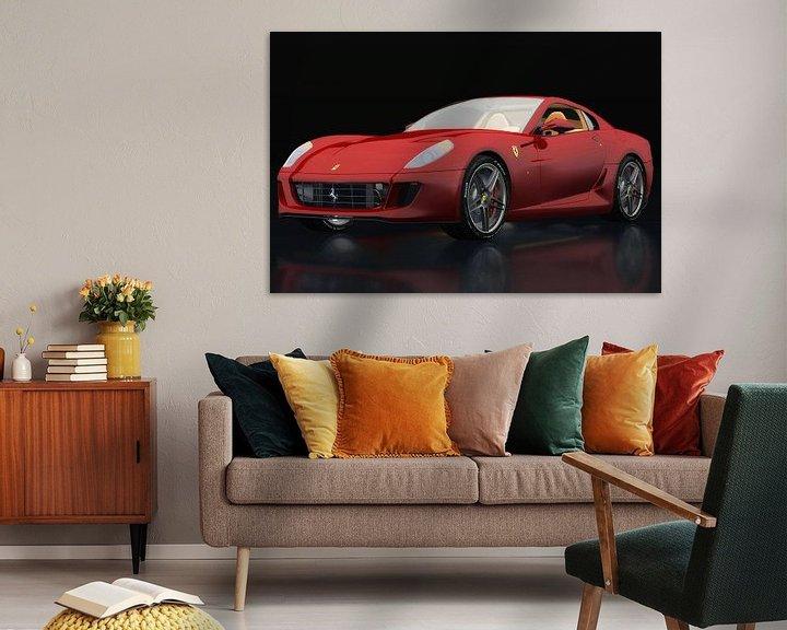 Sfeerimpressie: Ferrari 599 GTB Fiorano drie-kwart zicht van Jan Keteleer