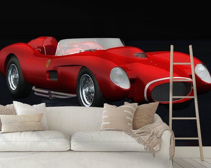 Beispiel fototapete: Ferrari F250 Testarossa Dreiviertelansicht von Jan Keteleer
