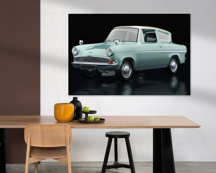 Impression: Ford Anglia 123E Deluxe vue trois quarts sur Jan Keteleer