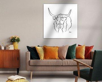 Bison Illustration von Sita Conijn