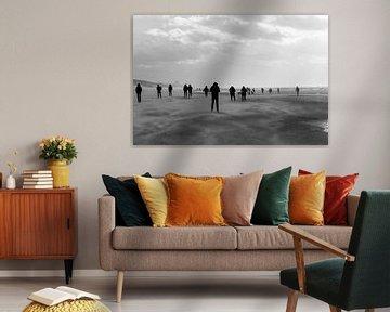 Silhouettes sur la plage