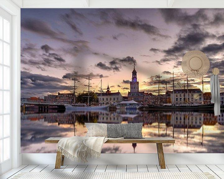 Sfeerimpressie behang: Stadsfront Kampen van Fotografie Ronald
