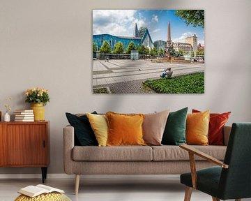 Panorama vom Leipziger Augustusplatz von Animaflora PicsStock