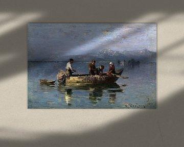 Fischer auf dem Chiemsee, JOSEPH WOPFNER, um 1896