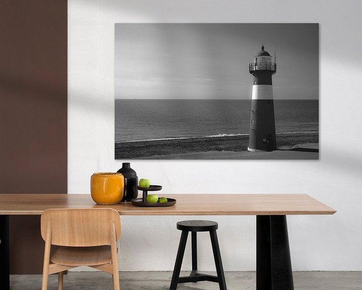 Impression: Phare en noir et blanc sur Sander van Driel