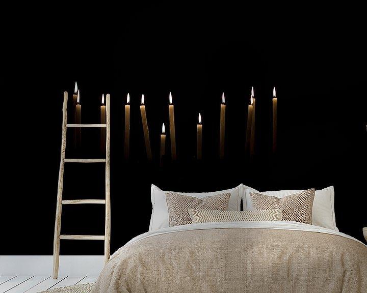 Sfeerimpressie behang: Licht in de duisternis van Ratna Bosch