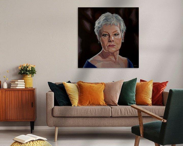 Sfeerimpressie: Judi Dench Schilderij van Paul Meijering