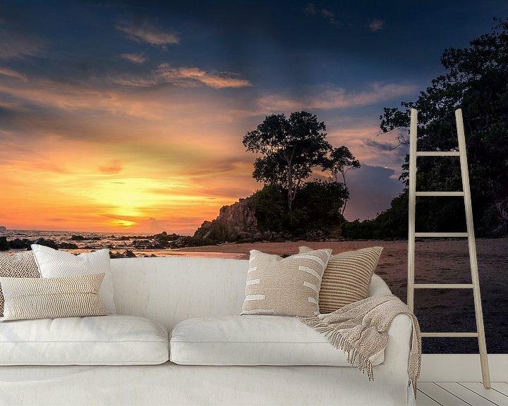 Sfeerimpressie behang: Zonsondergang in het paradijs van Markus Stauffer