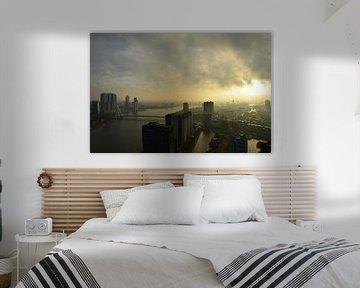 Herfststorm boven Rotterdam van Marcel van Duinen