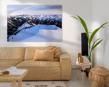 Winteruitzicht op de Zugspitze van Leo Schindzielorz