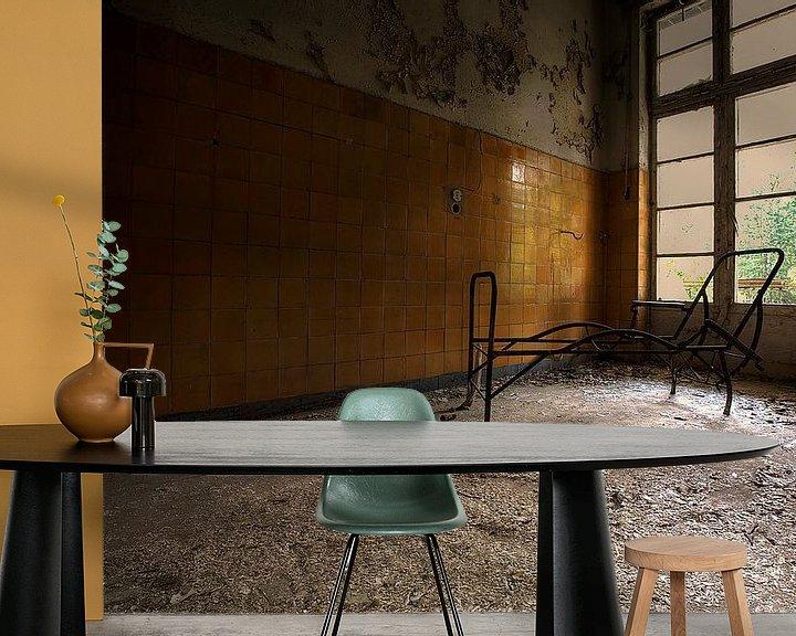 Sfeerimpressie behang: De slaapkamer van Arthur van Orden