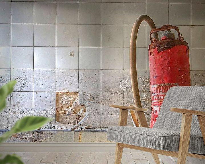 Sfeerimpressie behang: De badkamer van Arthur van Orden
