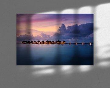 Avondstemming op de Malediven van Markus Stauffer