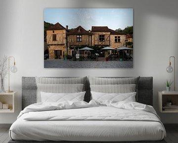 Dorfansicht von Saint-Cirq-Lapopie von Manuuu S