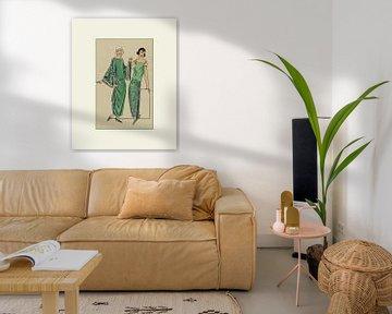 Les dames vertes - Tirage Vintage Art Déco Fashion sur NOONY