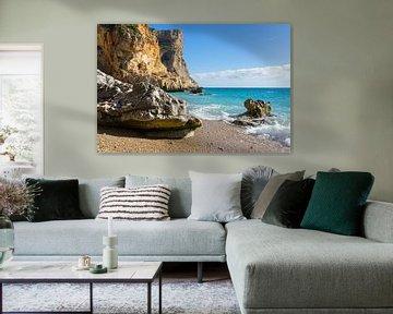 Strand, zon en Middellandse Zee - Cala Moraig 2 van Montepuro