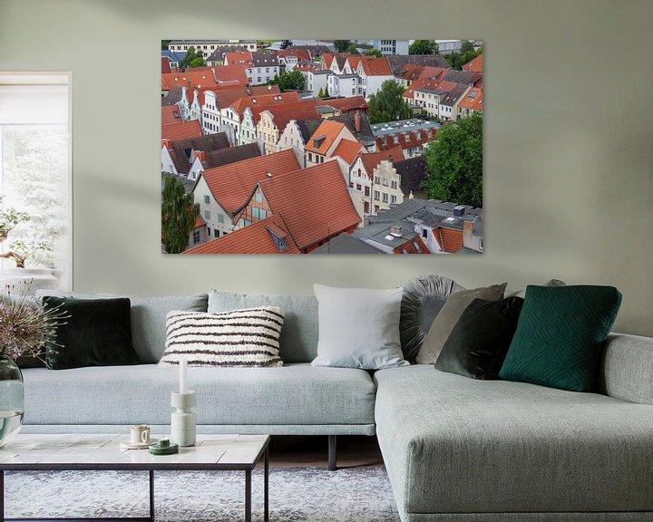 Beispiel: Luftaufnahme von der Hansestadt Wismar von Reiner Conrad