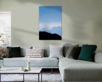 De blauwe bergen No.1 van Jesse Barendregt