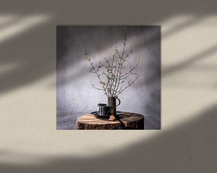 Beispiel: Altniederländisches Stillleben auf Holz [quadratisch]. von Affect Fotografie