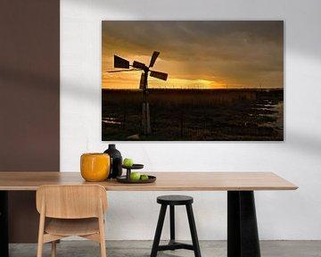 Go Windmill, Go! (tot maat 75x50) van Michiel van Kaam
