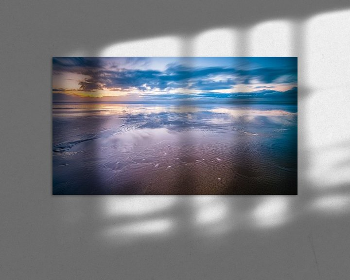 Sfeerimpressie: Zonsondergang boven de Noordzee van Fotografiecor .nl