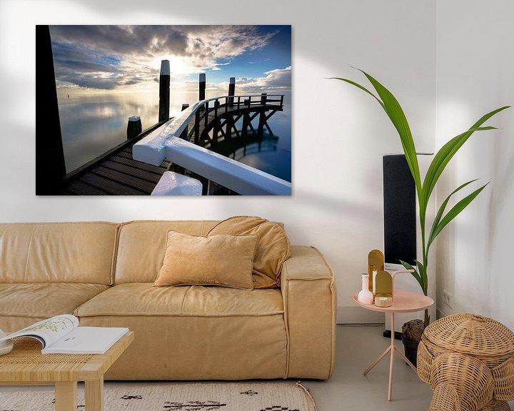 Sfeerimpressie: Haven van Oudeschild op waddeneiland Texel van Fotografiecor .nl