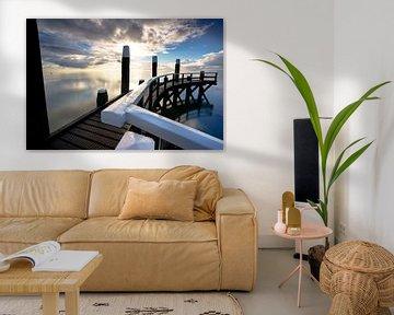 Haven van Oudeschild op waddeneiland Texel van Fotografiecor .nl
