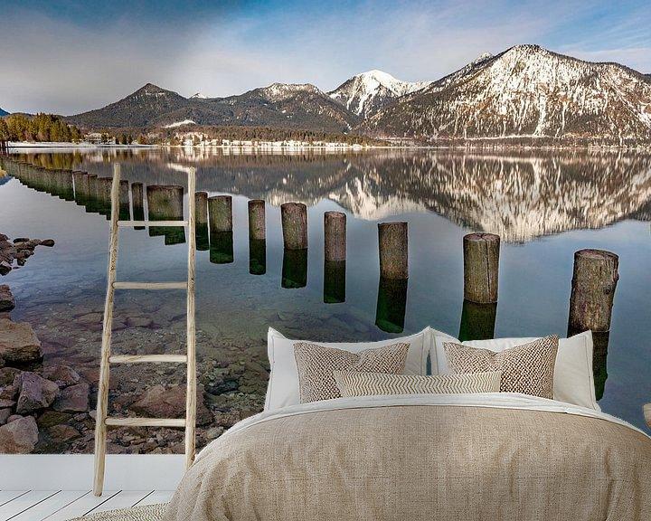 Beispiel fototapete: Walchensee im Winter von Einhorn Fotografie