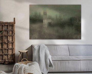 Turm in Landschaft von Marijke van Loon