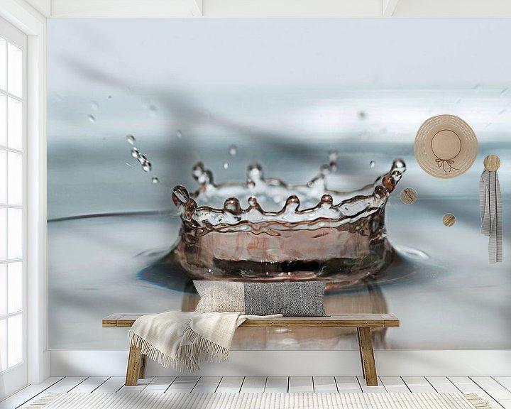 Sfeerimpressie behang: vallende waterdruppel van Compuinfoto .