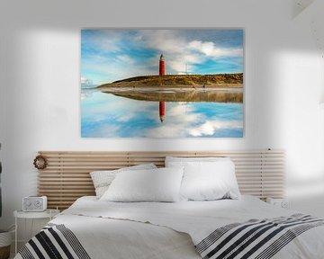 Reflections / Spiegel Vuurtoren Eierland Texel van Texel360Fotografie Richard Heerschap
