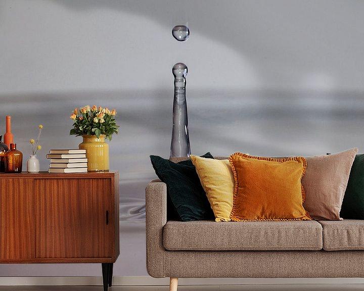 Sfeerimpressie behang: waterdruppels van Compuinfoto .