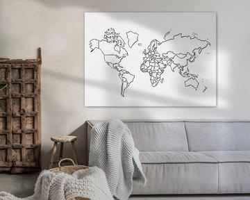 Weltkarte in Linien von Studio Malabar