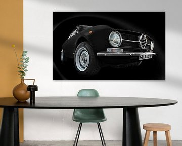 Alfa Romeo GT 1300 Junior in zwart van aRi F. Huber