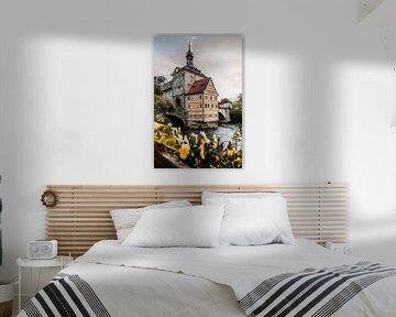 Bruggen stuurhuis in Bamberg Duitsland Beieren van Fotos by Jan Wehnert